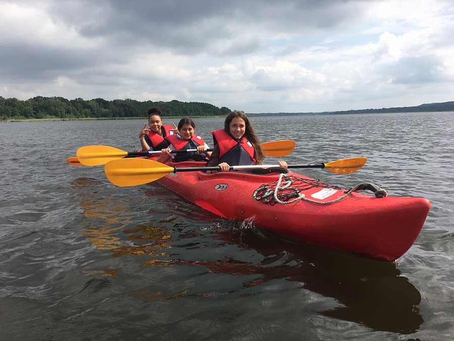 Ausflug der Peer Helper ins Brandenburger Land - Kanu