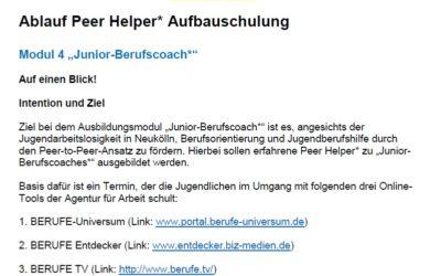 """Neues Ausbildungsmodul """"Junior-Berufscoach"""""""
